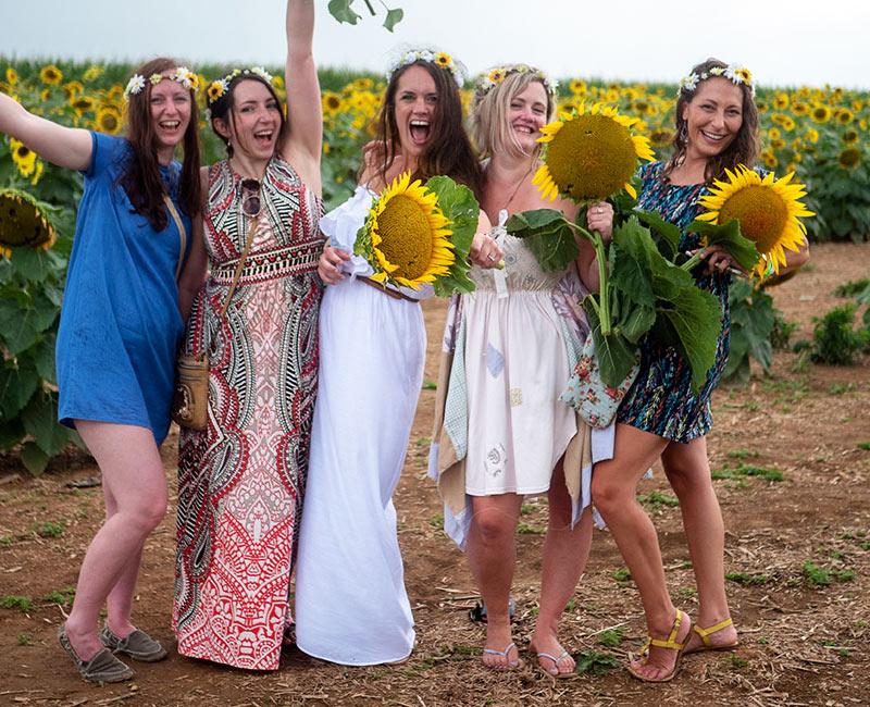 Fun at the PA Sunflower Festival (Maple Lawn Farms, PA)